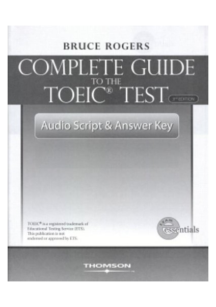 Complete Guide To The Toeic Test Book