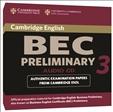 Cambridge BEC Practice Tests Preliminary 3 Audio CD