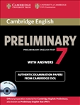 Cambridge English Preliminary Student's Book with Answers and Audio CD