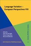 Language Variation - European Perspectives VIII