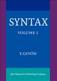 Syntax Vol I: An Introduction Hardbound
