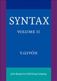 Syntax Volume II: An Introduction Paperback