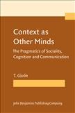 Context as Other Minds Hardbound
