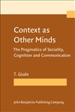 Context as Other Minds Paperback