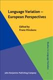 Language Variation ? European Perspectives
