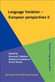 Language Variation ? European perspectives II
