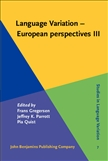 Language Variation European Perspectives III Hardbound